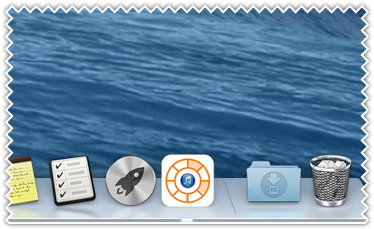CPU top process icon at dock icon