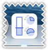 System usage dock icon - blue color scheme