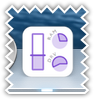 System usage dock icon - purple color scheme