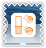 System usage dock icon - orange color scheme